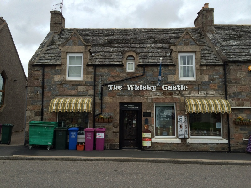 back again.....The Whisky Castle, Tomintoul
